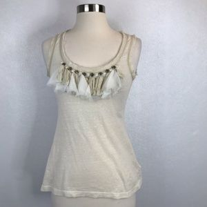 Anthropologie C. Keer Diamond Light Tank Top